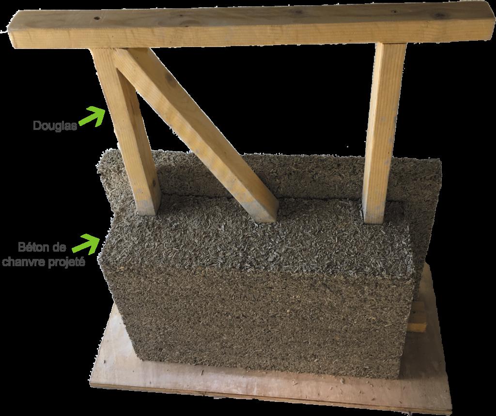 maquette ossature bois et béton de chanvre-DévelGreen