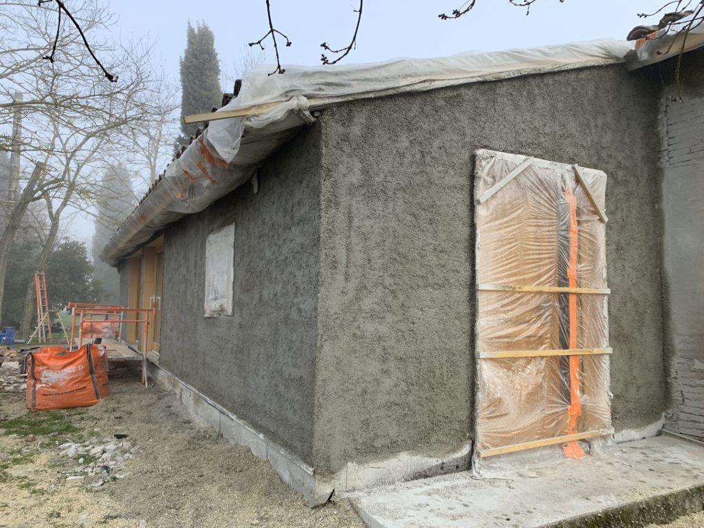 Rénovation par l'extérieur Béton de chanvre - DévelGreen