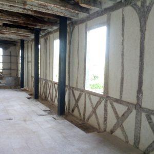 Médiathèque de Daux - Enduit intérieur